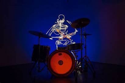 Drummer Animated Skeleton Drumming Beat Animation Studio