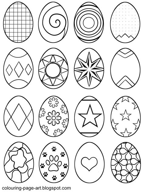 Small Easter Egg Template by Small Easter Egg Templates Happy Easter 2018