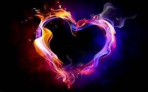 Beautiful Heart Made Of Magic Flame