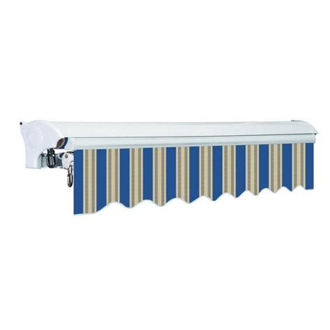 advaning   wide stripe slope patio awning   awnings department  lowescom