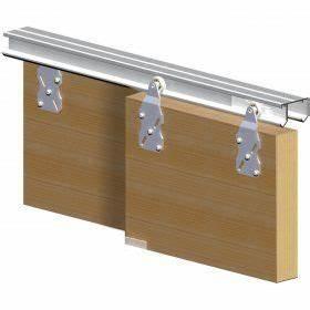 rail pour porte coulissante detournement de meubles ikea With rail suspendu porte coulissante