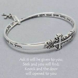 Ask Given Seek ... Silver Inspirational Quotes