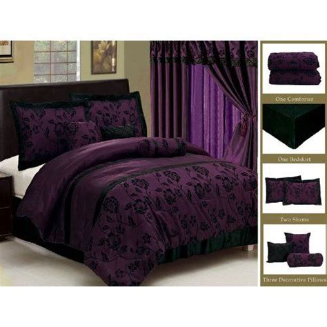 black and purple bedding comforter sets discount