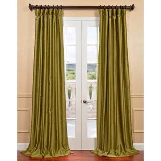 chartreuse curtains drapes chartreuse yarn dyed faux dupioni silk curtain panel