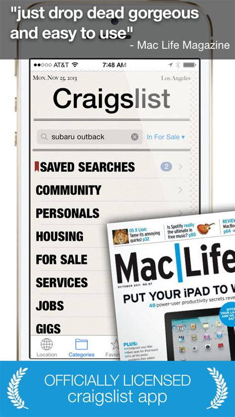 iphone craigslist app shopper daily an app for craigslist for iphone and