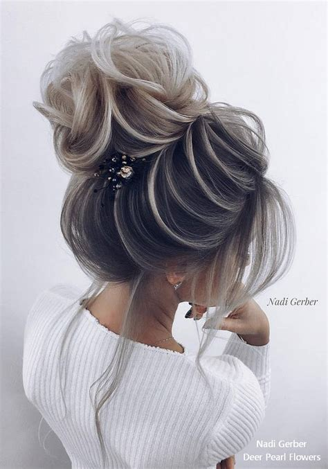 top  high bun wedding updo hairstyles  stylish zoo