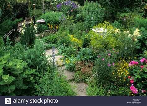 Snape Cottage Dorset Small Informal Herb Garden With Path