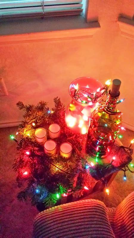 christmas lights decorations  glass bottles