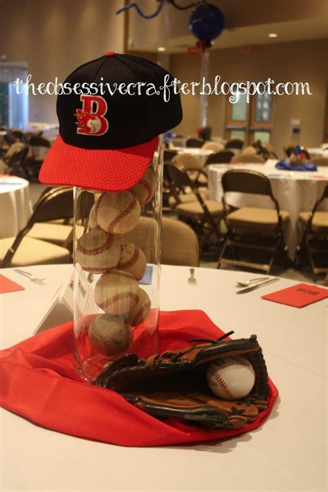 sports centerpieces for tables baseball centerpiece baseball pinterest