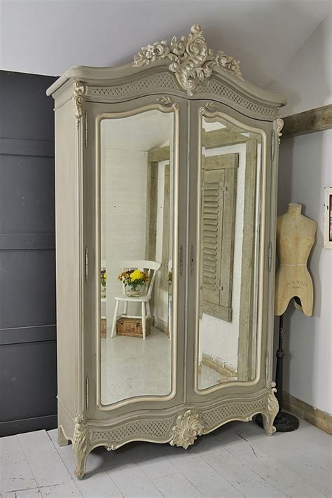 large french shabby chic knock  armoire bedroom