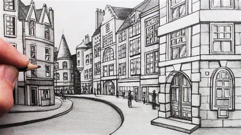 draw buildings  perspective  street