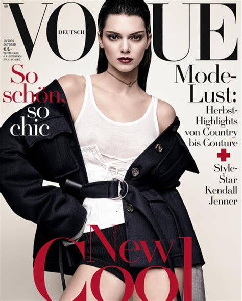 latest vogue cover pics kendall jenner flashes nipples on vogue germany