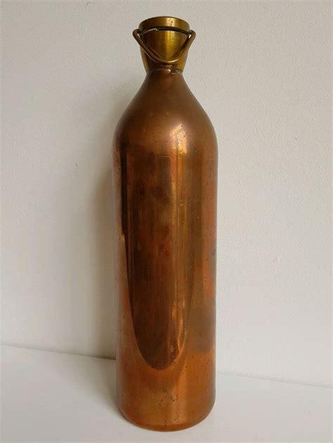 vintage copper  brass hot water bottle antiques metalware copper ebay antique copper