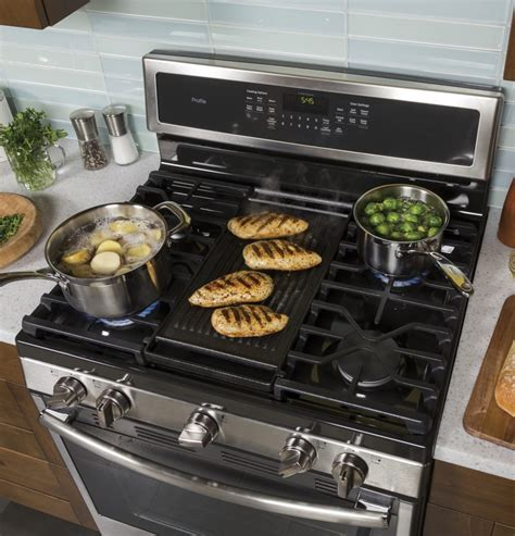 electric griddle pan reviews ge pgb911sejss 30 inch freestanding gas range with chef