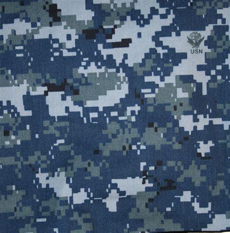 Navy Nwu Digital Blue Color Camo Fabric Ny/co Twill 65