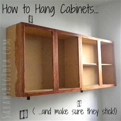how to hang cabinets sarah 39 s big idea