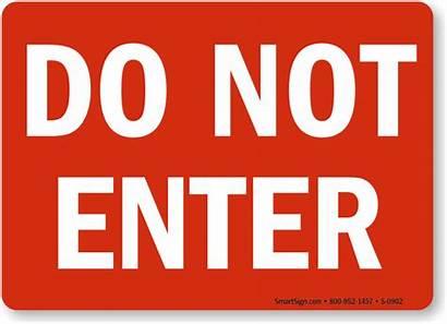 Enter Sign Signs Danger Door Printable Property