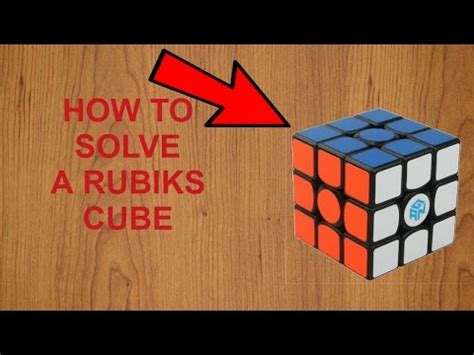 How To Solve A Rubiks Cube!!! (bigginers Method) Youtube