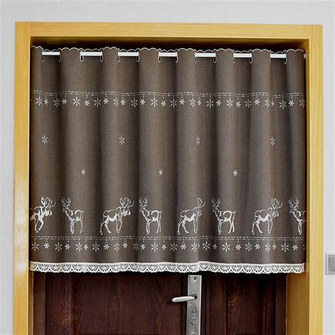 Cotton Cupboard by Half Curtain Cotton Cabinet Curtain Lace Embroidery Hem