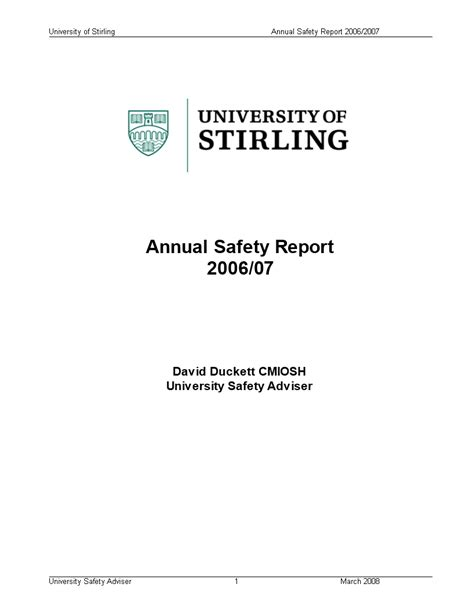 Annual Safety Report | Templates at allbusinesstemplates.com