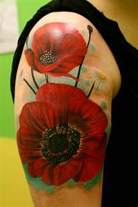 Looking for unique Realistic tattoos Tattoos? poppy flower ...