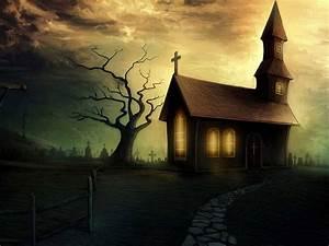 Halloween Wallpaper: Spooky House Wallpaper, Spooky ...