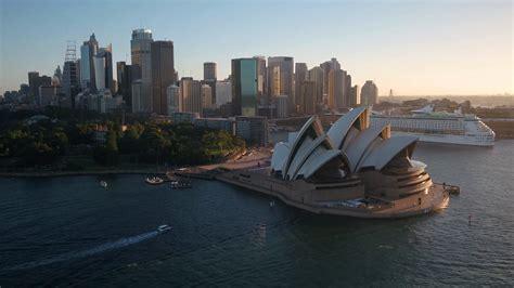 Aerial Australia Sydney April 2018 Sunny Day 30mm 4K ...
