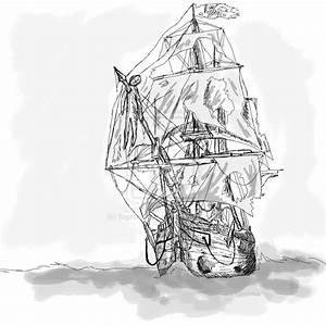 Ghost Pirate Ship Sketch