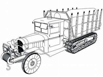 Coloring Truck Pages Printable Classic Tree Trucks