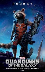 Guardians of the Galaxy poster Rocket Raccoon - blackfilm ...