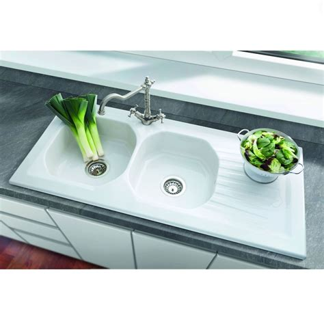 bowl kitchen sink villeroy boch ravel 2 0 bowl ceramic sink kitchen 6514