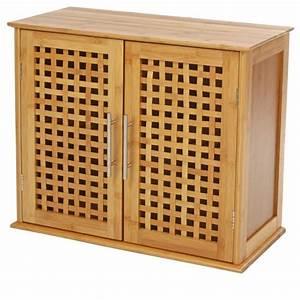 meuble haut salle de bain en bambou With meuble salle de bain en bambou