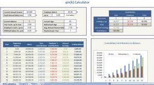 401k calculator excel template 401k calculator retirement