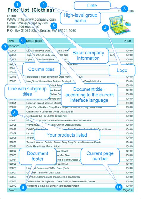Product Price List Template With Pictures by Product Price List Template With Pictures Images
