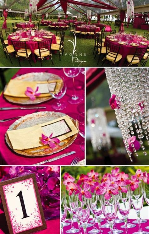 fuchsia wedding table decorations 1000 images about wedding fuchsia pink magenta on