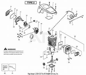 Poulan P3314 Gas Saw Type 2 Parts Diagram For Engine
