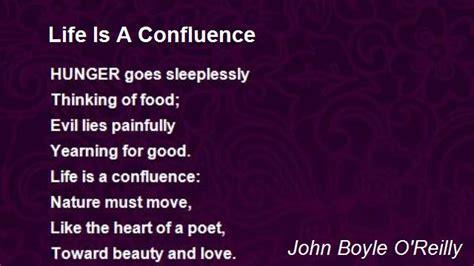 life   confluence poem  john boyle oreilly poem hunter