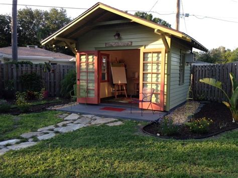 Backyard Built by Sarasota Artist Studio Shed Historic Shed