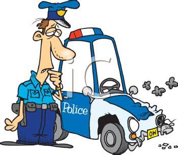 animated wrecked cartoon policeman