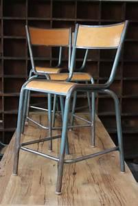 Chaise Haute Industrielle : serie de 6 ancienne chaise haute d 39 ecole laboratoire de biologie ~ Teatrodelosmanantiales.com Idées de Décoration