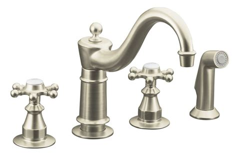 kitchen faucet canada antique kitchen sink faucet in vibrant brushed nickel k