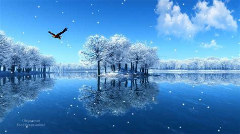 fond 233 cran anim 233 et screensaver paysage hivernal clicpartout fond d 233 cran anim 233