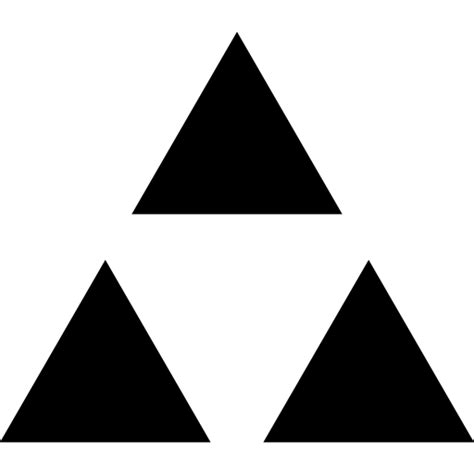 what does three triangles mean