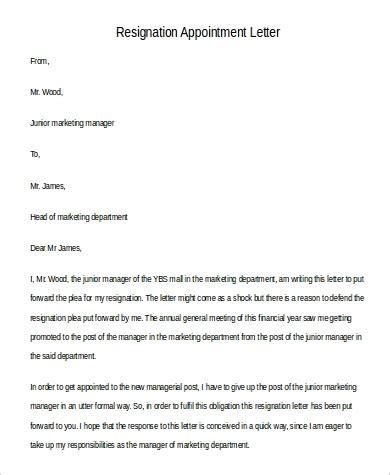 formal letter  resignation sample  examples  word