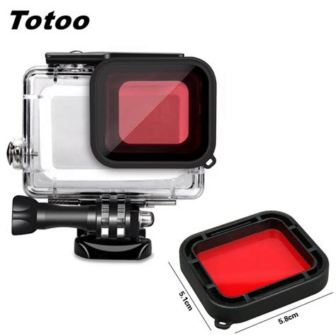 red diving filter lens cover protector gopro hero
