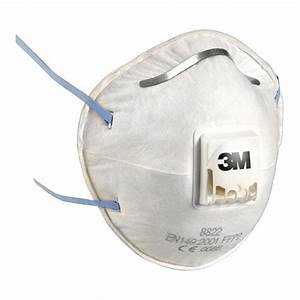 3M 8822 Dust/Mist Respiratory Valved Face Mask - FFP2 (10