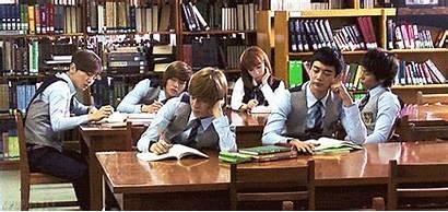 Library Shinee Students Studying Study Kid University