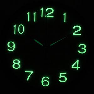 Diy quartz wall clock movement mechanism arab digital glow for Glow in the dark digital wall clock