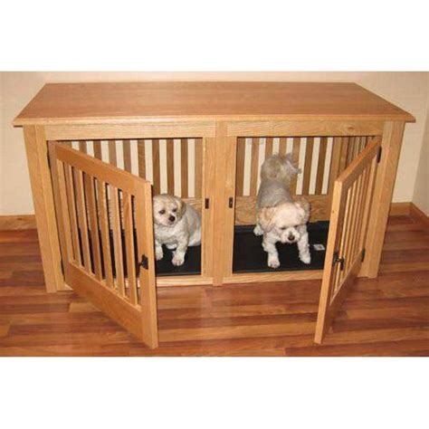double wood dog crate small diy dog crate furniture