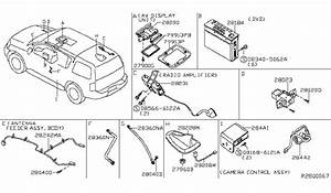 28442 zs00a genuine nissan 28442zs00a camera assy back view With view part diagram item 6